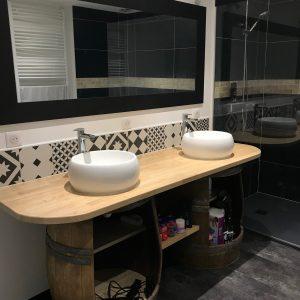 Réalisations : Salle de bain en Hévéa